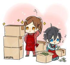 Kyouko Hori and Izumi Miyamura Manga Anime, Anime Couples Manga, Manga Art, Horimiya, Character Design Animation, Cute Chibi, Kawaii Cute, Animes Wallpapers, Anime Shows