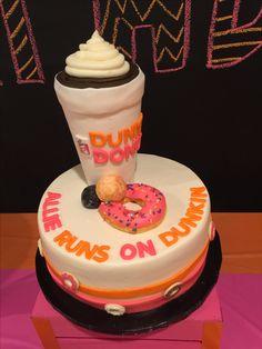 Dunkin Donuts Cake Birthday In 2019 Dunkin Donuts Cake