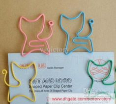 Wholesale Cat Shaped Paper Clip/bookmark creative gift party favor 28 X35MM b2, Free shipping, $0.13/Piece | DHgate
