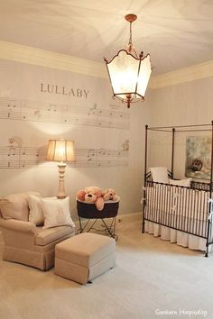 arnold nursery. On Southern Hospitality blog 12/9/2014.  I love this idea for a nursery!