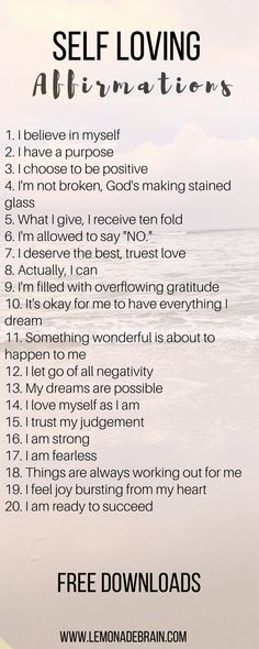 Affirmations that will change your life - Lemonade Brain