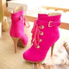 These boots with black leggings & a neon pink top... the perfect outfit for a blacklight party!