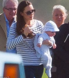 Cute: William has always hinted that his son has something of a healthy appetite