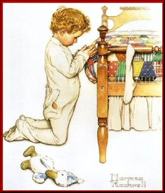A Christmas Prayer. Norman Rockwell