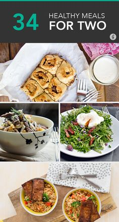 Cooking for Two: 34 Cheap and Healthy Meals for You and Your Boo #mealsfortwo #healthy