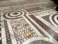 Imagine the patience and attention to detail of the artisans that made these floors.