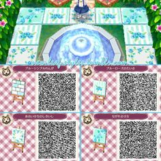 acnl blue series   new-leaf-styles:Some cute blue patterns you can use for decorating ...