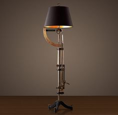 This kicks ASS.  Where can I scrounge up a grand for this? Circa 1900 Textile-Scale Floor Lamp