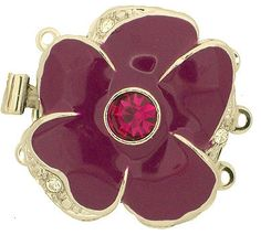 Colorful ThreeStrand Enamel Flower Clasps with by GoldenTwinClasps, $15.00