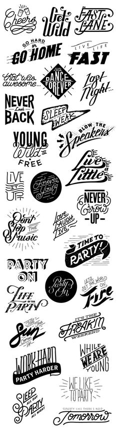 Lettering, logo inspiration. Typography label design