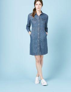 Denim Dress WW074 Shirt Dresses at Boden