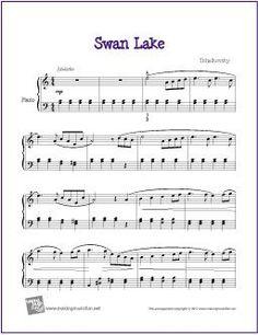 Swan Lake (Intermediate) | Sheet Music for Piano - http://makingmusicfun.net/htm/f_printit_free_printable_sheet_music/swan-lake-intermediate-piano.htm