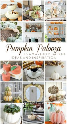 It is the season for #pumpkineverything, so we have 15 bloggers teaming up with Country Living Magazine to share their pumpkin ideas and inspiration. You don't want to miss this! #pumpkins #pumpkinpalooza