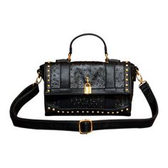 Studded Ostrich Crossbody Black, $39, now featured on Fab.