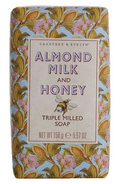 Crabtree+&+Evelyn+'Almond+Milk+&+Honey'+Triple+Milled+Soap+available+at+#Nordstrom