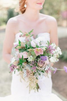Whimsical spring florals | Photography: We Are The Mitchells - www.facebook.com/wearethemitchells Read More: http://www.stylemepretty.com/2015/04/06/whimsical-diy-coastal-wedding/