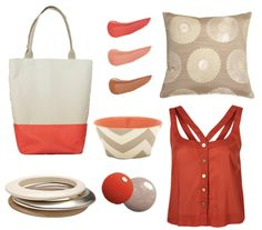 Oh the lovely things: Follow-up : Poppy Orange + Sand  LOVE THESE COLORS TOGETHER