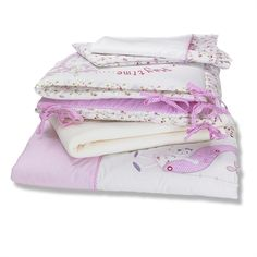 Izziwotnot Baby Fleur Cot Bedded Coverlet Bedding Bale - Now available at Simplyrooms.co.uk