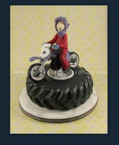 Hennie's Motorbike Cake! by ♥Dot Klerck....♥, via Flickr