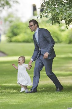 Prince Daniel and Princess Estelle of Sweden