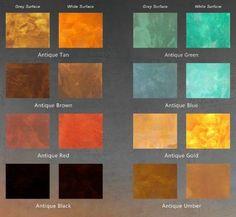 concrete acid stain color chart