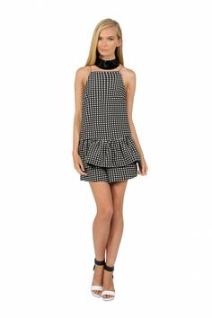 Finders Keepers   Strange Fire Playsuit   Black/White   Shop Now   BNKR
