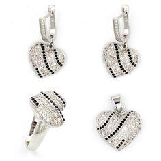 925 Sterling Silver Jewelry Women Jewelry Sets Ladies Fashion Pendant/Earrings/Ring Set Sterling-silver-jewelry Jewellery Sets