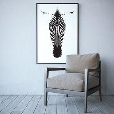 This ultra cool Zebra print exudes bold style. He looks amazing at large sizes, and makes a sophisticated addition to adult and kid spaces alike. Our prints are professionally printed Contemporary Interior, Modern Art, Interior Stylist, Interior Design, Zebra Art, Affordable Art, Kid Spaces, Large Art, All Art