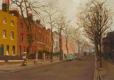 Camberwell Grove in Midwinter by Joan Vernon Connew 1952 From the Southwark Art Collection London History, South London, Art Uk, Places Of Interest, Street Photo, Your Paintings, Vernon, Good Old, Explore