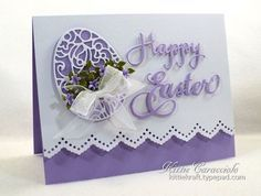 Ornate Easter Greetings and Ellen Hutson Stamp Sale Diy Easter Cards, Easter Greeting Cards, Greeting Cards Handmade, Handmade Easter Cards, Easter Cards Religious, Happy Easter Cards, Happy Easter Wishes, Egg Card, Paper Cards
