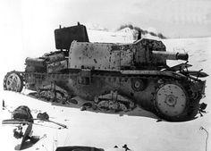 Tank wreckage at El Alamein, 1942