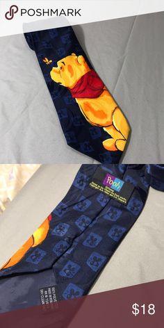 Winnie The Pooh Tie Bumblebee Pooh . 100% polyester Disney Accessories Ties