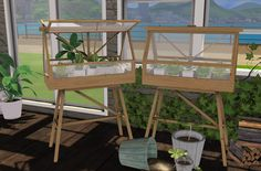 """minc7878: """"  Design House Stockholm Greenhouse ash NEW MESH BY ME I made all the meshes from scratch. created with Sims4studio Blender Photoshop category - decoration - misc greenhouse open - 688..."""