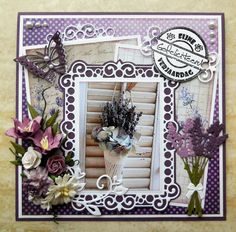 Canvas Collage, Studio Lighting, Big Shot, Paper Cards, Card Designs, Flower Cards, Provence, Card Ideas, Shabby Chic