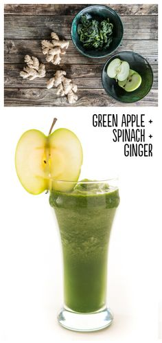 Not Easy Being Green: Place 1 green apple (with skin, cored, and cut into chunks), ½ cup frozen spinach, ½-inch piece peeled, fresh ginger (cut into small pieces), and ½ cup water or ice into a blender. Blend until smooth. Serves 1. Extras: Blend in ½ of an avocado or fresh lime juice.