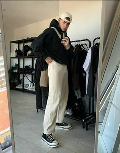 Stylish Mens Outfits, New Outfits, Cute Outfits, Trendy Mens Fashion, Casual Outfits, Streetwear Men, Streetwear Fashion, Aesthetic Fashion, Aesthetic Clothes