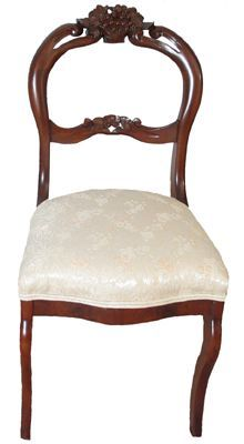Victorian Walnut Balloon Back Side Chair