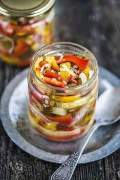Estonian Food, Preserves, Pickles, Salsa, Stuffed Peppers, Vegetables, Ethnic Recipes, Drink, Photos