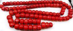 MUSEUM antique Chinese Tibetan Buddhist Coral Mala prayer beads necklace 694g!!!