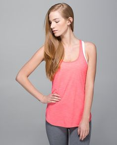 What The Sport Singlet | lululemon athletica | Color: heathered electric coral | Lululemon.com