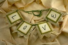 Decorations Wedding Green Vintage Wedding Decoration Banner Antiqued Book Page Anne of Green Gables Love