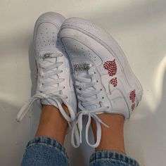 Nike Air Force 1 with Rhinestones Nike Shoes Air Force, Nike Air, Aesthetic Shoes, Paris Hilton, Dream Shoes, Custom Shoes, Sock Shoes, Baby Shoes, Juicy Couture