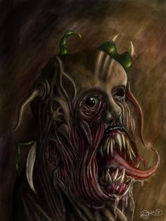 ugly monster portrait digital painting