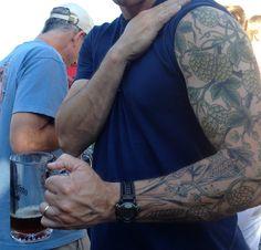 hops flower and barley tattoo sleeve more tattoo sleeve 1