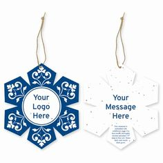 Grow-A-Note Customizable Plantable Snowflake Ornaments for favors