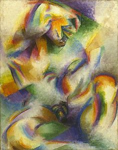 Stanton MacDonald-Wright | Oriental Symphony | Synchromism. Stanton MacDonald-Wright, was a modern American artist. He was a co-founder of Synchromism, an early abstract, color-based mode of painting, which was the first American avant-garde art movement to receive international attention.