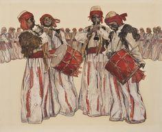 """Dhol, zurna  Թնդաց զուռնան… (Գ. Էմինի """"Սասունցիների պարը"""" պոեմի նկարազարդում)  By Grigor Khanjyan"""