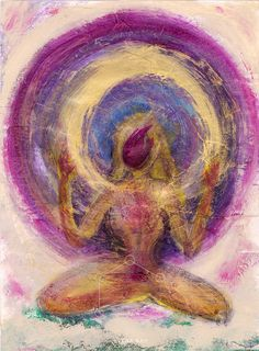Abstract woman painting as the spirit of female sexual energy by Elena Ray.