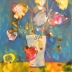 """See what Artists taking the online class """"Painting Flowers from imagination in mixed media"""" have been painting here! Abstract Flowers, Watercolor Flowers, Painting Flowers, Flower Paintings, Abstract Art, Derby, Special Snowflake, Palette Art, Arte Floral"""