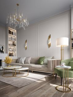 Home Design Living Room, Room Design Bedroom, Living Room Interior, Living Room Decor, Neoclassical Interior Design, Modern Interior Design, Adobe Photoshop, Interiores Design, Decoration